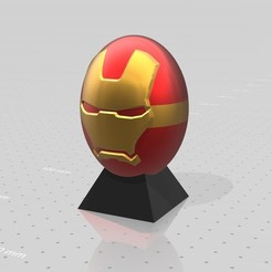 Free 3D printer designs Ironman superhero eggs, psl
