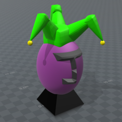 Download free 3D printing templates joker egg, psl