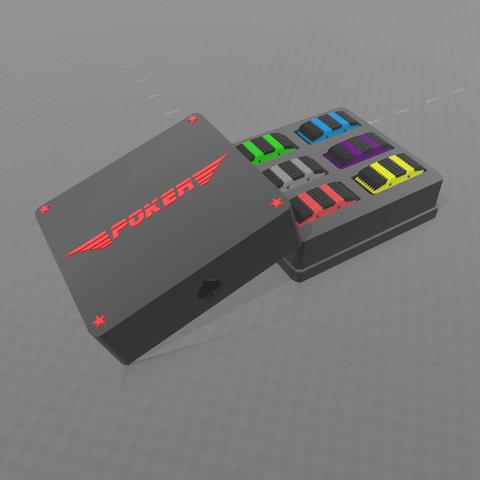 Descargar Modelos 3D para imprimir gratis Caja de placas de póquer, psl