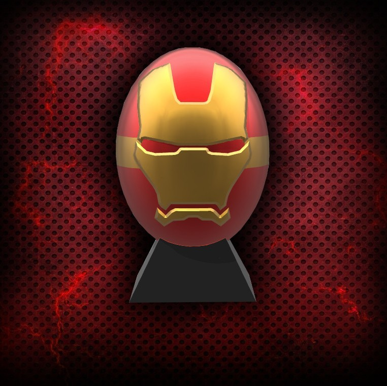 5.jpg Download free STL file Ironman superhero eggs • Object to 3D print, psl