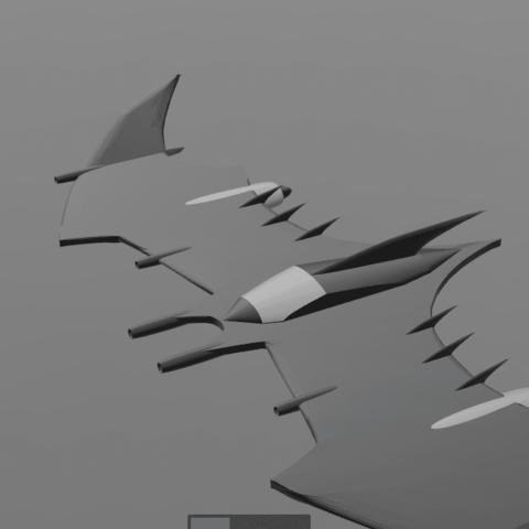 5.png Download free STL file Batman fly • 3D printable object, psl