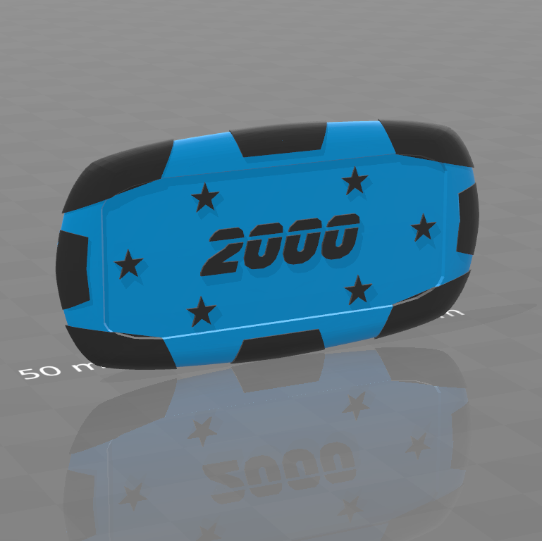 Plaque star 2000.png Download free STL file Star poker chips • Template to 3D print, psl
