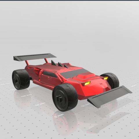 7.png Download free STL file Concept car EVO II M • 3D printer template, psl