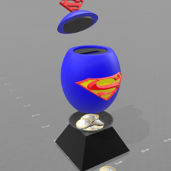 "Free 3D print files ""Superman egg"" piggy bank, psl"