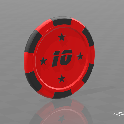 Jeton star 10.png Download free STL file Star poker chips • Template to 3D print, psl