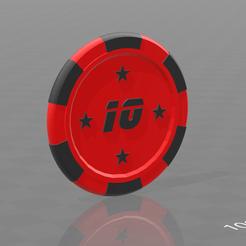modèle 3d gratuit Jetons poker étoiles, psl