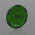 Jeton star 50.png Download free STL file Star poker chips • Template to 3D print, psl