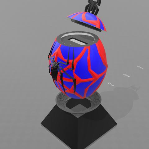 """3.png Télécharger fichier STL gratuit Tirelire """"oeuf spiderman"""" • Design imprimable en 3D, psl"""