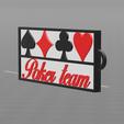 1.png Download free STL file Poker team key ring • 3D printable template, psl