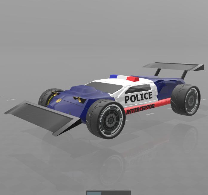 "1.png Download free STL file concept car ""police interceptor"" • 3D printing object, psl"