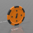 Jeton star 1.png Download free STL file Star poker chips • Template to 3D print, psl
