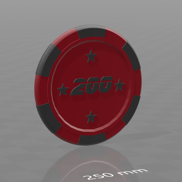 Jeton star 200.png Download free STL file Star poker chips • Template to 3D print, psl