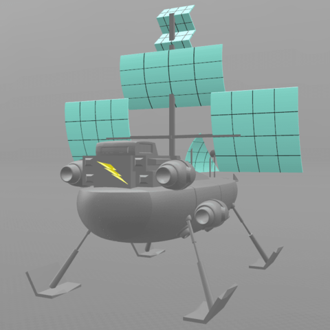 "4.png Download free STL file Jayce ""Herc's ship"" • 3D print model, psl"