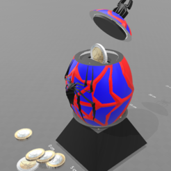 "Free 3D print files ""Spiderman egg"" piggy bank, psl"