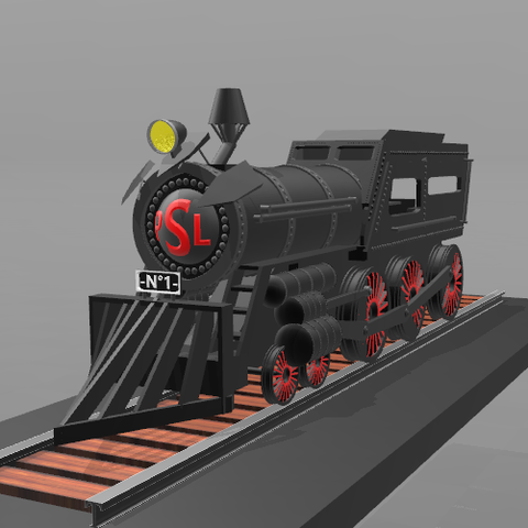 2.png Download free STL file Locomotive No. 1- • 3D print template, psl