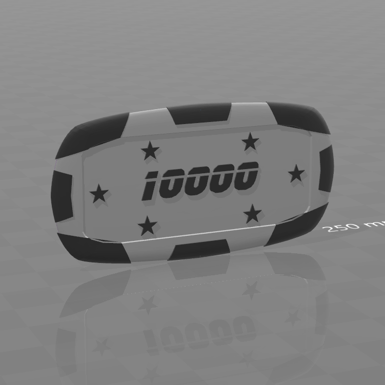 Plaque star 10000.png Download free STL file Star poker chips • Template to 3D print, psl