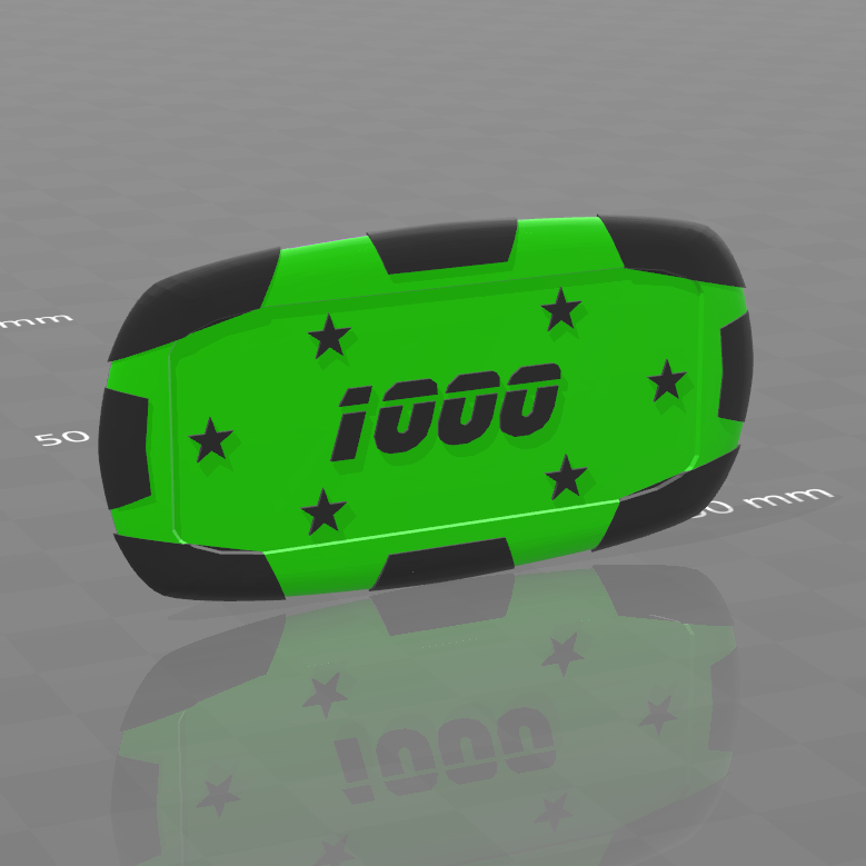 Plaque star 1000.png Download free STL file Star poker chips • Template to 3D print, psl