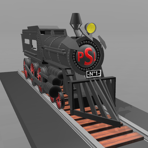 5.png Download free STL file Locomotive No. 1- • 3D print template, psl