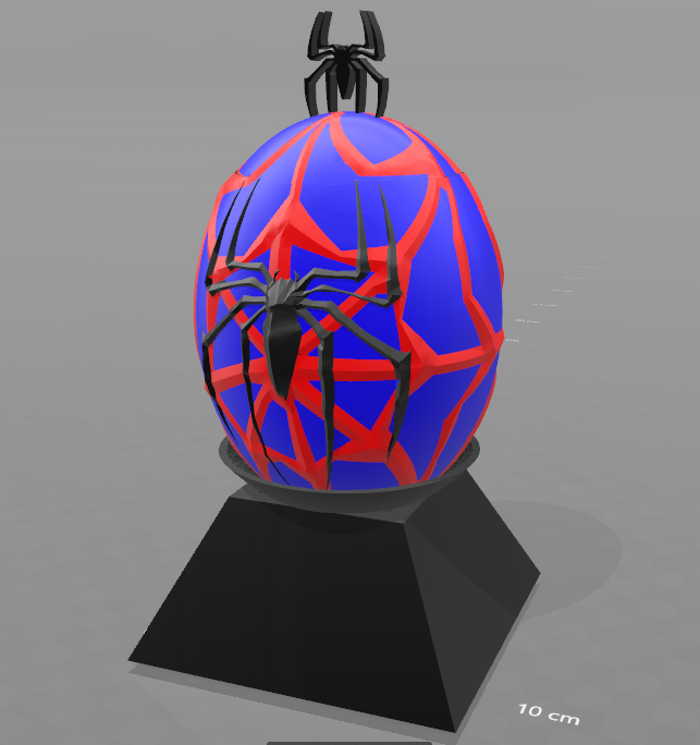 """4.png Télécharger fichier STL gratuit Tirelire """"oeuf spiderman"""" • Design imprimable en 3D, psl"""