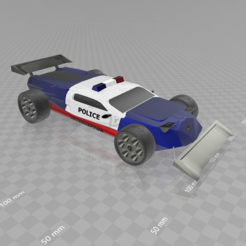 Download free 3D printing files Concept car evo Police, psl