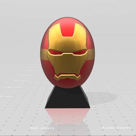 4.jpg Download free STL file Ironman superhero eggs • Object to 3D print, psl