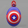 Fichier STL Porte clés Captain America, psl