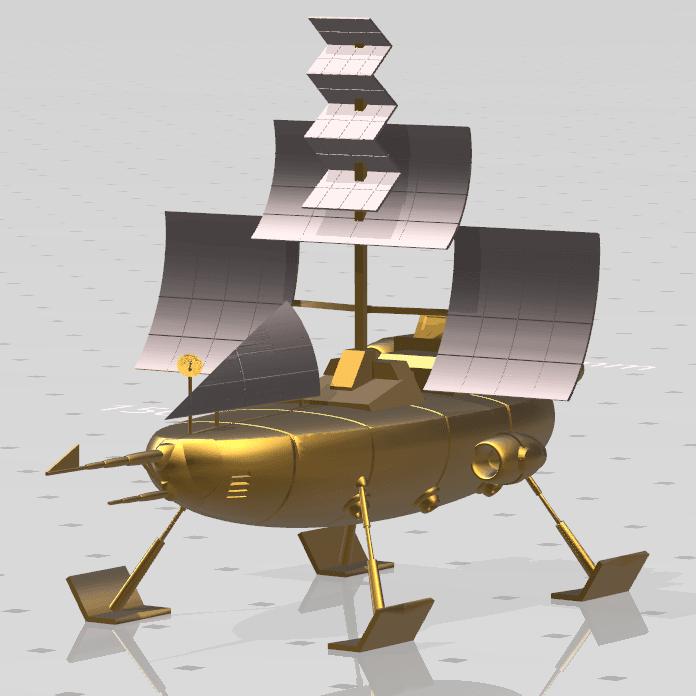 "9.png Download free STL file Jayce ""Herc's ship"" • 3D print model, psl"
