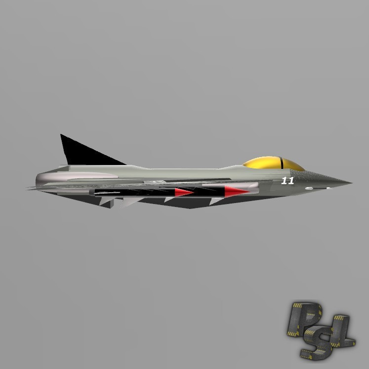 5.jpg Download free STL file Fighter aircraft 11 • Object to 3D print, psl