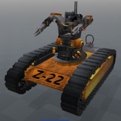 Download free 3D printing templates Tank-bot Z-22 series, psl