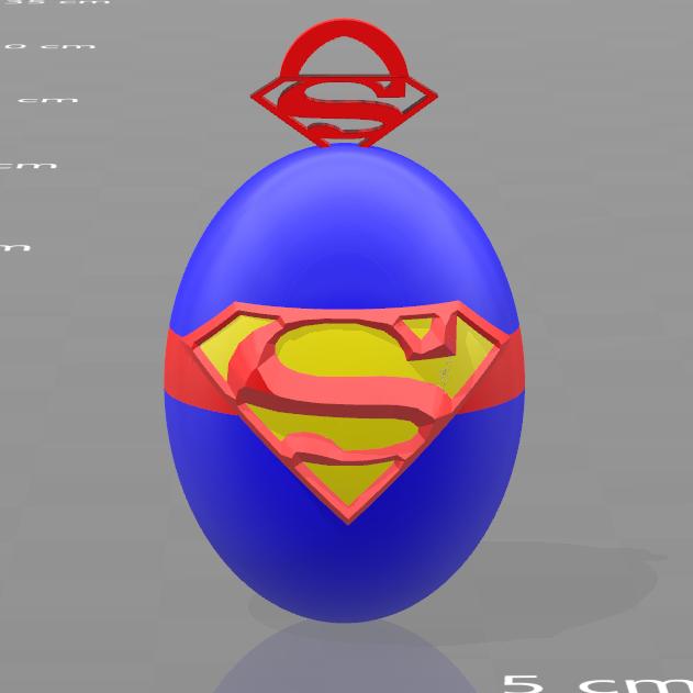 2.png Download free STL file Superman key ring • 3D printable design, psl