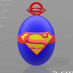 Free 3D printer files Superman key ring, psl
