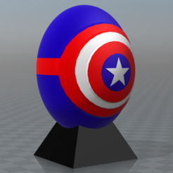 """Fichier STL gratuit Oeufs de super héros """"Captain america"""", psl"""