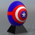 STL gratis Huevos de superhéroe del Capitán América, psl