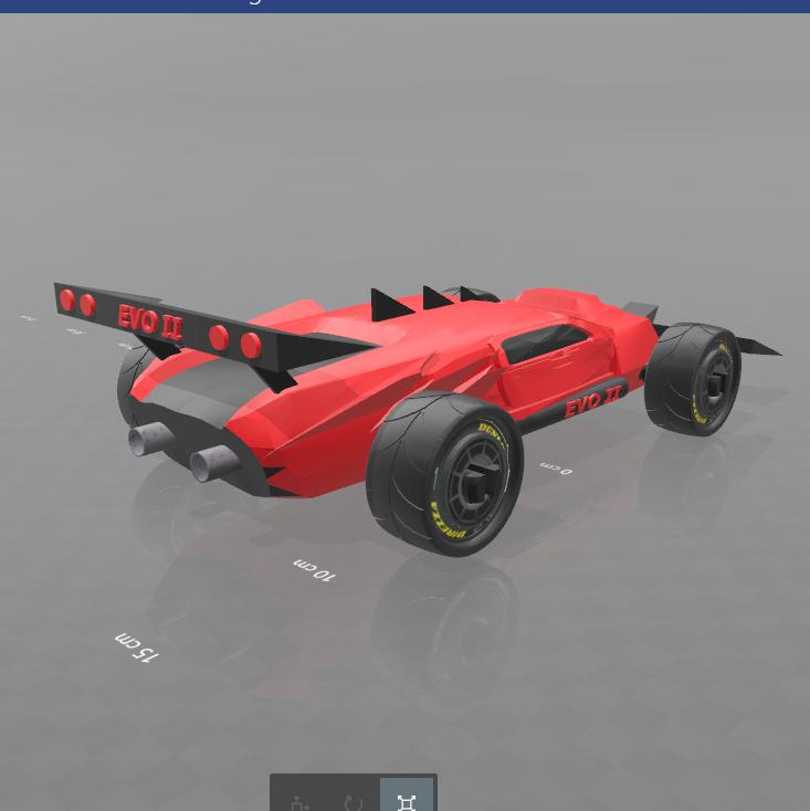 5.png Download free STL file Concept car EVO II M • 3D printer template, psl