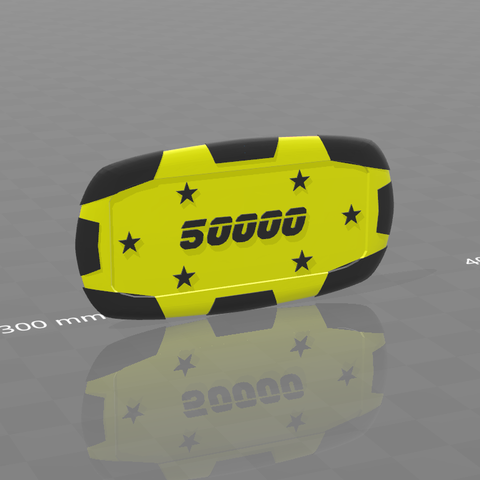 Plaque star 50000.png Download free STL file Star poker chips • Template to 3D print, psl