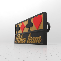 Download free STL Poker team key ring, psl