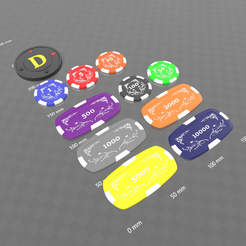 Download free 3D printer model Poker chips, psl