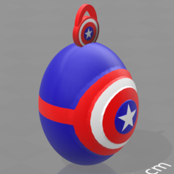 Download free 3D printer designs Captain America keychains, psl