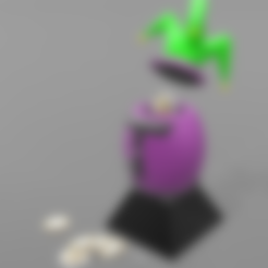 "tirelire oeuf joker socle.stl Download free STL file Piggy bank ""joker egg"" • Template to 3D print, psl"