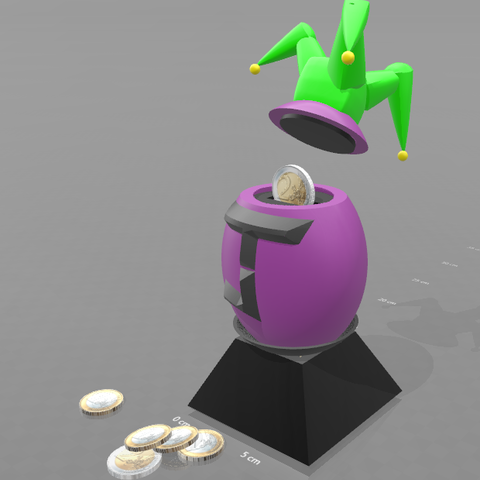 "1.png Download free STL file Piggy bank ""joker egg"" • Template to 3D print, psl"
