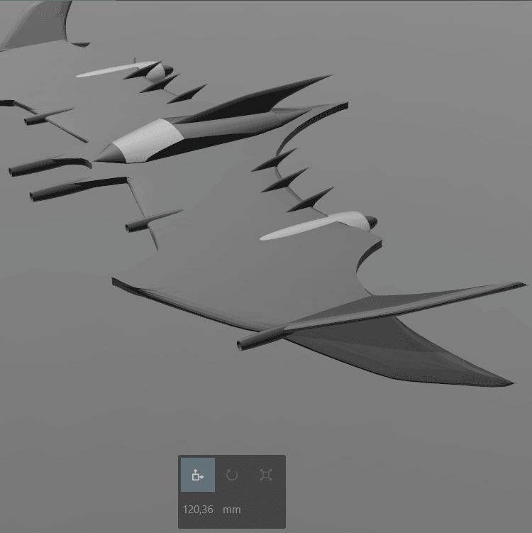 6.png Download free STL file Batman fly • 3D printable object, psl