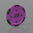 Jeton star 25.png Download free STL file Star poker chips • Template to 3D print, psl