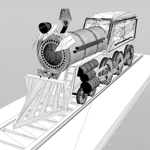 7.png Download free STL file Locomotive No. 1- • 3D print template, psl