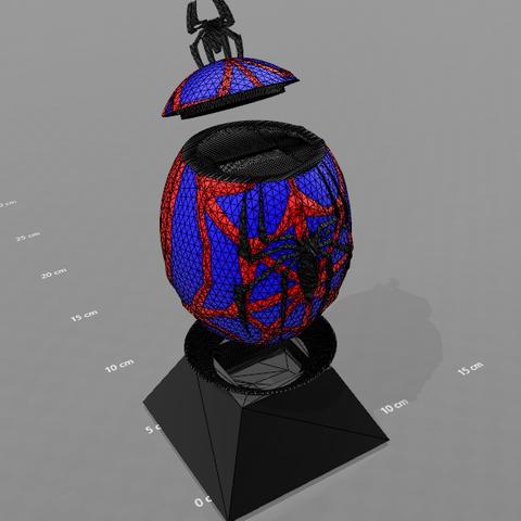 """1.png Télécharger fichier STL gratuit Tirelire """"oeuf spiderman"""" • Design imprimable en 3D, psl"""