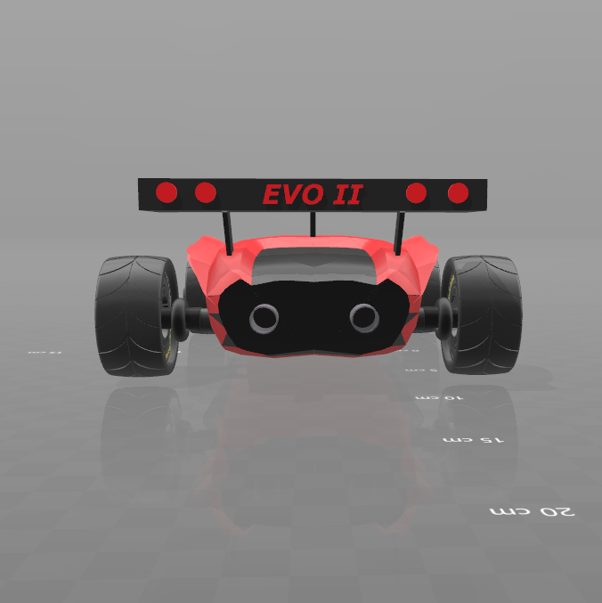 4.png Download free STL file Concept car EVO II M • 3D printer template, psl
