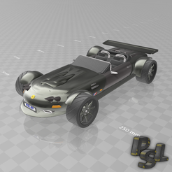 "Télécharger plan imprimante 3D gatuit Psl 3D Car N°2 ""French roadster"", psl"