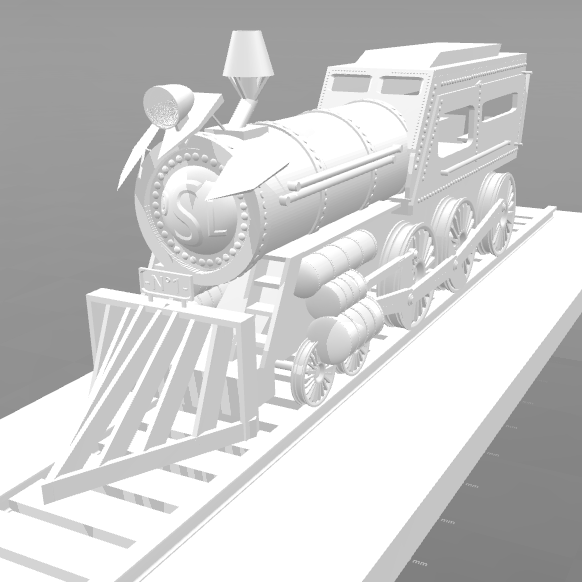 6.png Download free STL file Locomotive No. 1- • 3D print template, psl