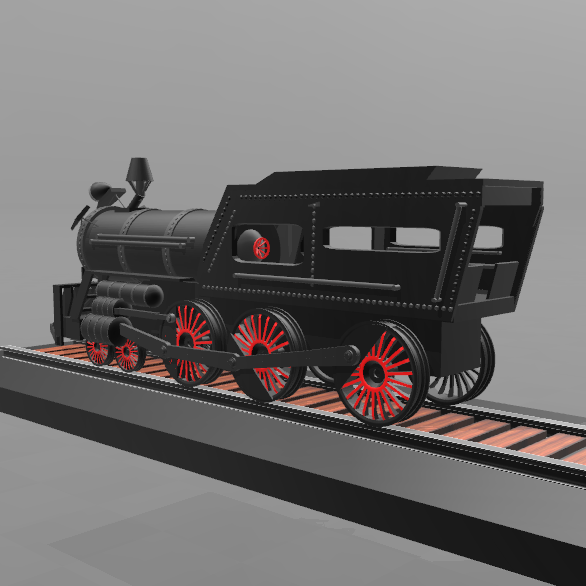 4.png Download free STL file Locomotive No. 1- • 3D print template, psl