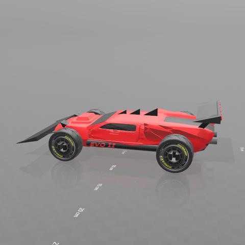 2.png Download free STL file Concept car EVO II M • 3D printer template, psl