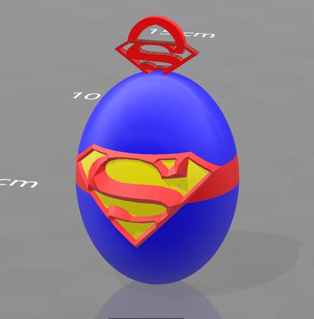 1.png Download free STL file Superman key ring • 3D printable design, psl